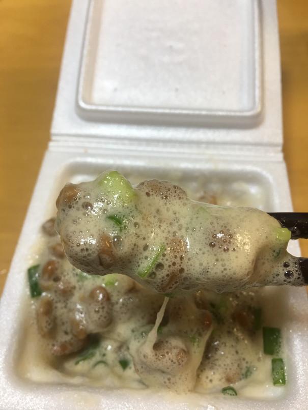 納豆に酢とネギ
